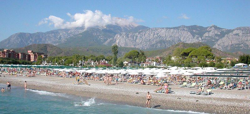 Пляж Турции, Кемер, район Чамьюва