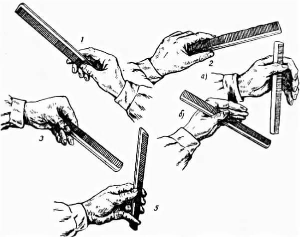 как правильно держать расчёску