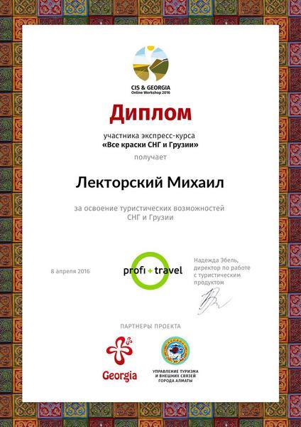 Диплом по по странам СНГ и Грузии