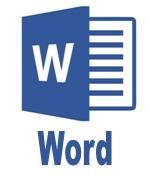 Синий логотип Word для курсов